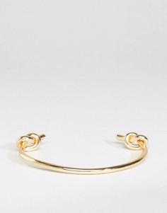 Золотистый браслет-манжет в виде узла DesignB - Золотой