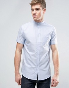 Оксфордская рубашка с короткими рукавами и воротником на пуговице Brave Soul - Синий