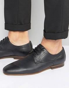 Кожаные туфли на шнуровке Zign - Черный