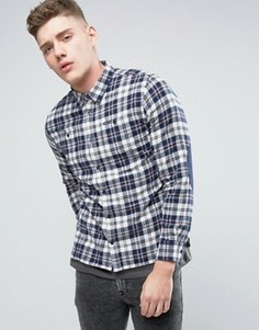 Рубашка классического кроя с заплатками на локтях Pepe Yank - Синий