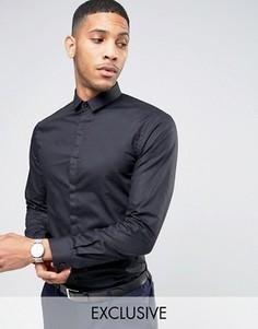 Рубашка скинни с маленьким воротником Noak - Черный