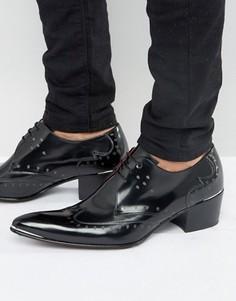 Туфли дерби с принтом черепа Jeffery West Sylvian - Черный