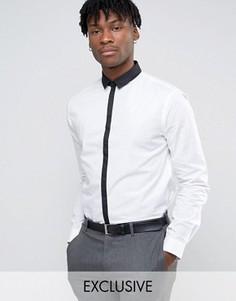 Рубашка с контрастным воротником и планкой Noak - Белый
