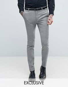 Супероблегающие брюки с узором гусиная лапка Heart & Dagger - Серый