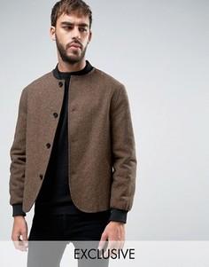 Твидовый пиджак Heart & Dagger - Коричневый