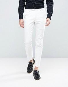 Суперузкие брюки под смокинг Noose & Monkey - Белый