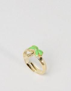 Кольцо ограниченной серии с пальмой - Золотой Asos
