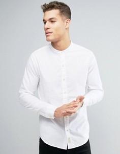 Классическая оксфордская рубашка с логотипом Hollister - Белый