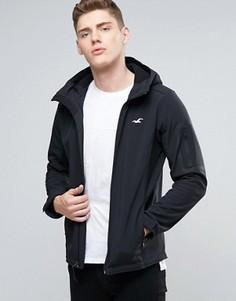Антрацитовая куртка с капюшоном и логотипом в виде чайки Hollister - Черный