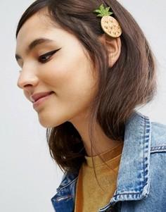 Блестящая заколка для волос ограниченной серии с ананасом - Мульти Asos