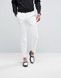 Супероблегающие брюки с окантовкой Noose & Monkey - Белый