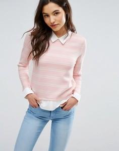 Джемпер с отделкой в виде рубашки Only - Розовый