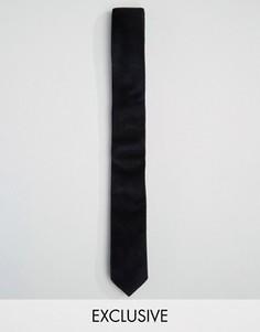 Черный бархатный галстук Reclaimed Vintage - Черный