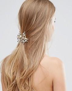 Заколка для волос с дизайном в виде листьев Love Rocks - Золотой