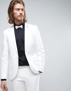 Супероблегающий пиджак-смокинг Noose & Monkey - Белый
