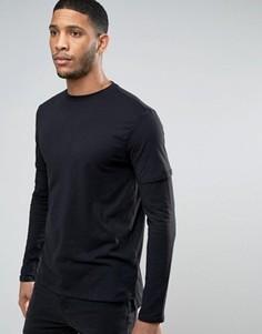 Черная футболка New Look - Черный