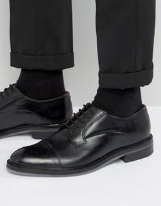 Дерби с отделкой на носке Ted Baker Aokii - Черный