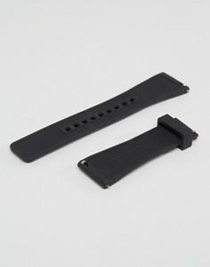 Черный силиконовый ремешок для часов Michael Kors Dylan - Черный
