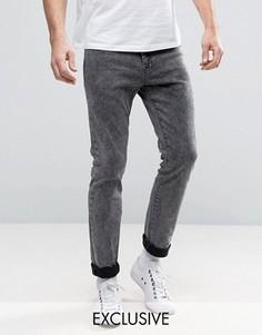 Черные выбеленные джинсы скинни Brooklyn Supply Co - Черный