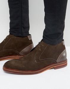 Замшевые ботинки на шнуровке Ted Baker Azzlan - Коричневый