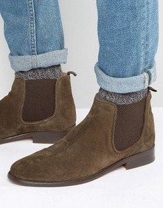 Замшевые ботинки челси Walk London - Коричневый