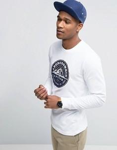 Лонгслив с логотипом Abercrombie & Fitch - Белый