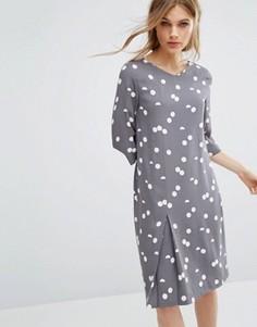 Платье в горошек Selected - Серый