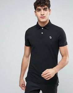 Черное обтягивающее поло с логотипом Abercrombie & Fitch - Черный