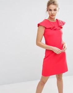 Платье с оборкой Ted Baker - Розовый