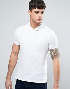Белое поло стандартного кроя из пике с логотипом Armani Jeans - Белый