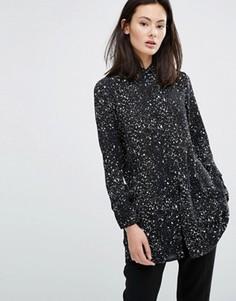 Платье-рубашка с принтом Influence - Черный