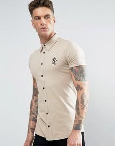Рубашка скинни Gym King - Зеленый
