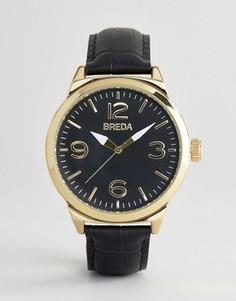 Матовые черные часы Breda Stephan - Черный