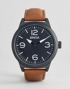 Часы с коричневым ремешком Breda Stephan - Коричневый