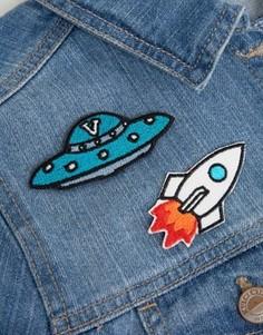 Нашивки с вышивкой НЛО и ракеты Orelia - Мульти