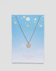Ожерелье с подвеской-диском Овен Orelia - Золотой