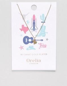 Ожерелье с подвеской штат Техас Orelia - Золотой