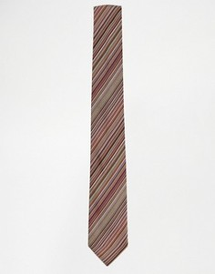 Шелковый галстук в полоску Paul Smith - Мульти