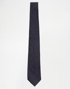 Шелковый галстук в горошек Paul Smith - Темно-синий