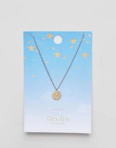 Ожерелье с подвеской-диском Близнецы Orelia - Золотой