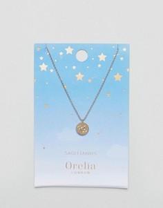 Ожерелье с подвеской-диском Стрелец Orelia - Золотой