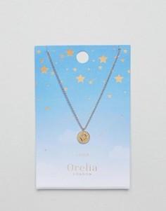 Ожерелье с подвеской-диском Весы Orelia - Золотой