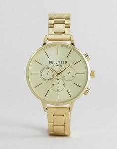 Часы с большим циферблатом Bellfield - Золотой