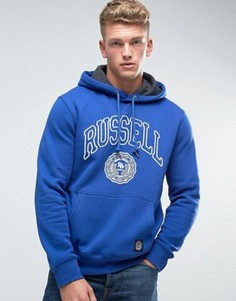 Худи с логотипом Russell Athletic Rosette - Синий