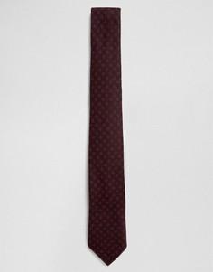 Узкий галстук в горошек Noak - Красный