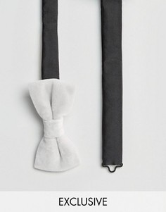 Бархатный галстук-бабочка Noose & Monkey - Белый