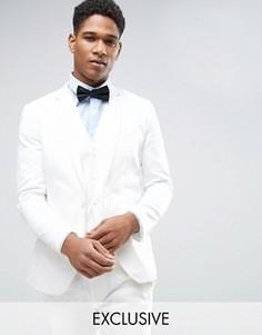 Супероблегающая куртка из хлопкового сатина Only & Sons - Белый