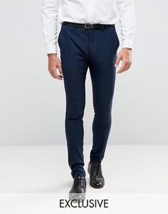 Супероблегающие брюки под смокинг Only & Sons - Темно-синий