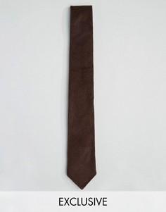 Вельветовый галстук Heart & Dagger - Коричневый
