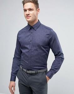 Узкая джинсовая рубашка в горошек Ted Baker - Темно-синий